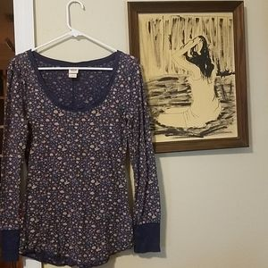 Mossimo Floral Thermal Long Sleeve Shirt